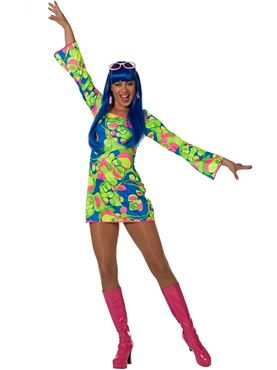 Adult Ladies Sixties Dress Costume