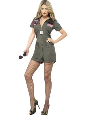 Adult Ladies Top Gun Aviator Costume Thumbnail