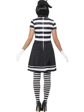 Adult Lady Mime Artist Costume - Side View