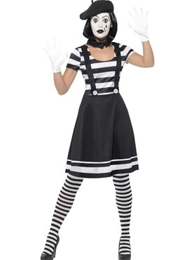 Adult Lady Mime Artist Costume
