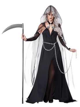 Adult Lady Reaper Costume Couples Costume
