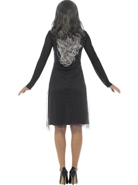 Adult Lady Skeleton Costume - Side View