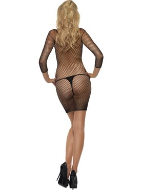 Adult Lattice Net Body Stocking - Side View