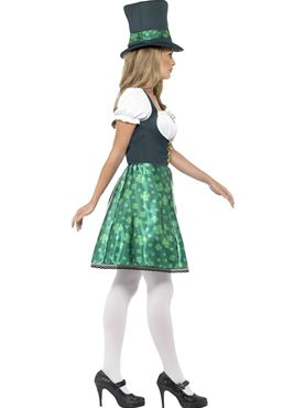 Adult Leprechaun Lass Costume - Back View