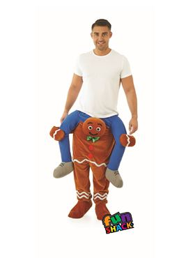 Adult Lift Me Up Gingerbread Man Costume - Back View