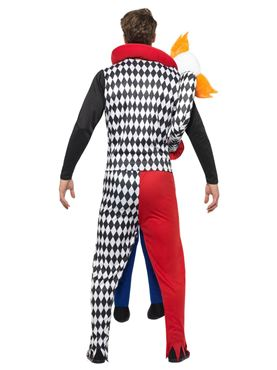 Adult Lift Me Up Kidnap Clown Costume - Side View
