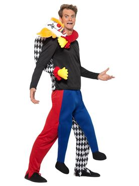 Adult Lift Me Up Kidnap Clown Costume - Back View