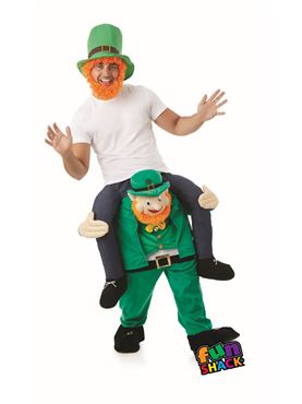 Adult Lift Me Up Leprechaun Costume - Back View