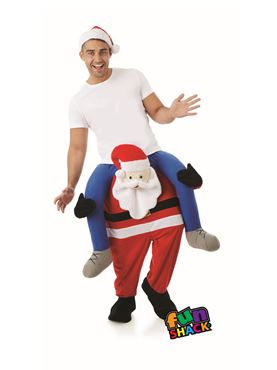 Adult Lift Me Up Santa Costume - Back View