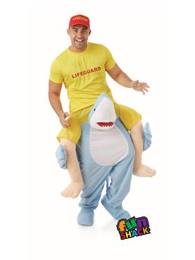 Adult Lift Me Up Shark Costume - Side View