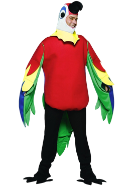 Adult Light Weight Parrot Costume Couples Costume