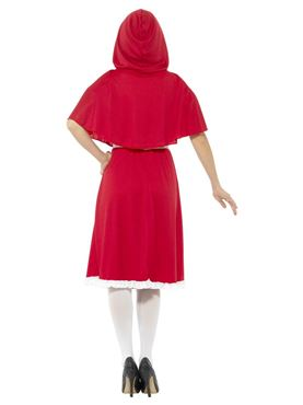 Adult Longer Length Red Riding Hood Costume - Side View