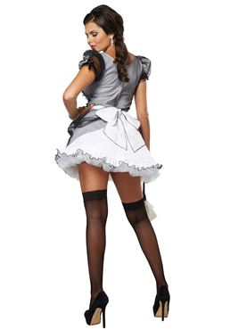 Adult Luxe French Maid Costume - Back View