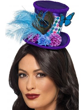 Adult Mad Hatter Mini Feather Hat