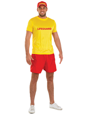 Adult Male Lifeguard Costume Couples Costume