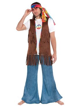 Adult Male Long Hippie Vest