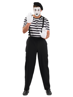 Adult Male Mime Artist Costume Couples Costume