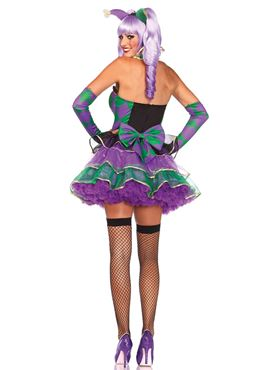 Adult Mardi Gras Sweetie Costume - Back View