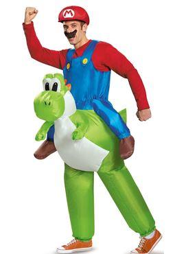 Adult Inflatable Mario Riding Yoshi Costume