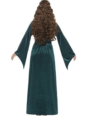 Adult Medieval Maiden Costume - Side View