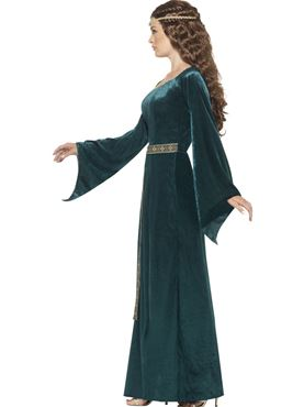 Adult Medieval Maiden Costume - Back View