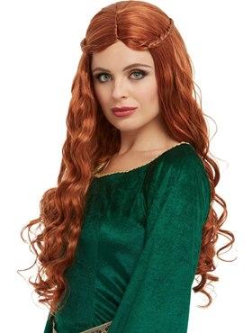 Adult Medieval Princess Wig