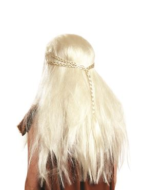 Adult Medieval Princess Wig - Back View