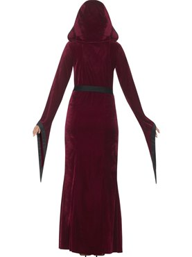 Adult Medieval Vampiress Costume - Side View