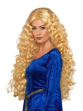 Adult Medieval Warrior Queen Wig