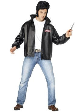 Adult Mens Grease T-Bird Jacket - Side View