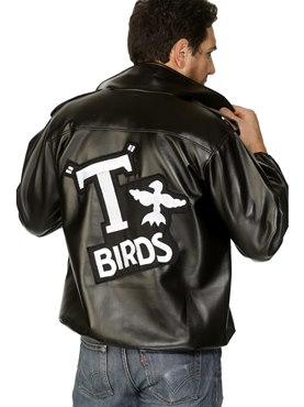 Adult Mens Grease T-Bird Jacket Couples Costume