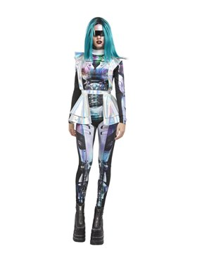 Adult Metallic Space Alien Costume Couples Costume