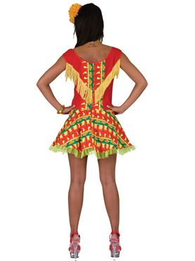 Adult Mexican Lady Costume - Back View