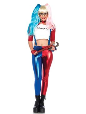 Adult Misfit Hipster Harley Quinn Costume