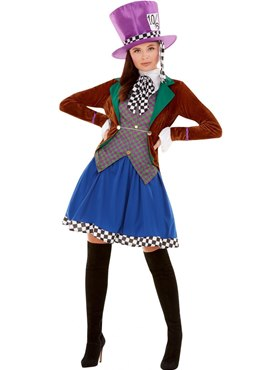 Adult Miss Hatter Costume Couples Costume