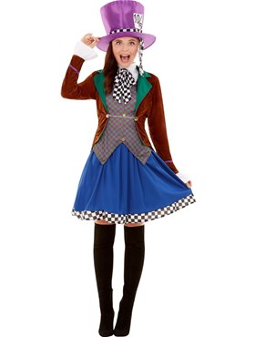 Adult Miss Hatter Costume - Side View