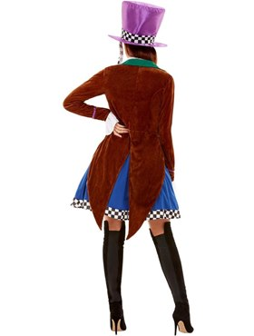 Adult Miss Hatter Costume - Back View
