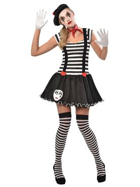 Adult Miss Mime Costume Couples Costume
