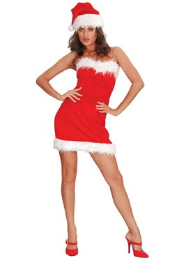 Adult Miss Santa Sexy Costume Thumbnail