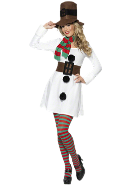 Adult Miss Snowman Costume Couples Costume