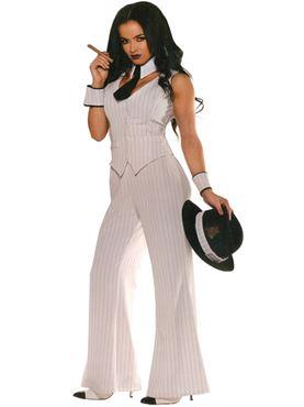 Adult Mob Boss Lady Costume U28633 Fancy Dress Ball