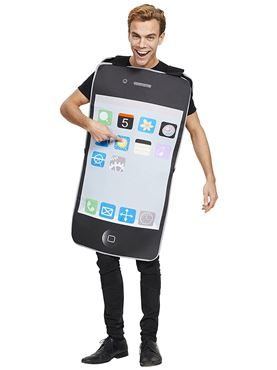 Adult Mobile Phone Costume - Back View