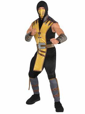 Adult Mortal Kombat Scorpion Costume Couples Costume