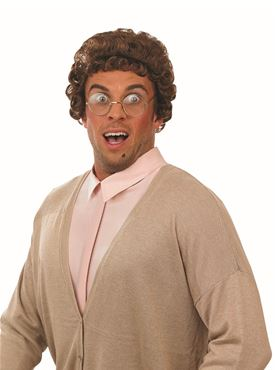 Adult Mrs Brown Granny Wig