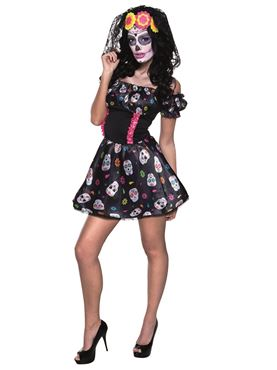 Adult Mrs Day of the Dead Costume