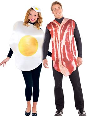 Adult Breakfast Buddies Couples Costume