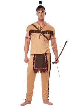 Adult Native Brave Costume Couples Costume