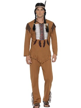 Adult Native Western Warrior Costume Couples Costume