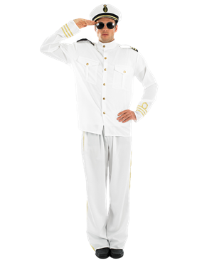 Adult Navy Officer Costume Couples Costume