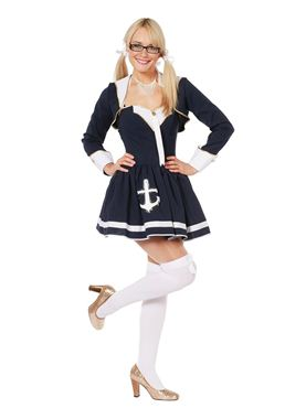 Adult Navy Sailor Lady Costume